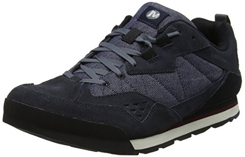 Merrell Burnt Rock Tura Denim Low, Zapatillas para Hombre, Azul...