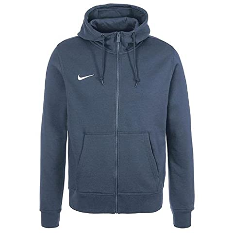 Nike Team Club Veste à capuche manches longues Homme Obsidienne Bleu/Blanc FR : S (Taille Fabricant : S)