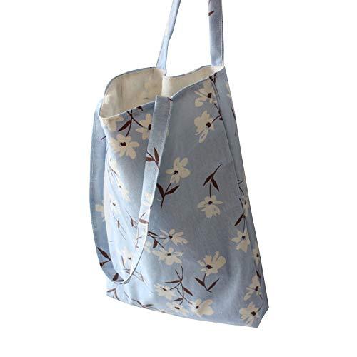 YOUQING Frauen beiläufige Schulterbeutel Geldbeutel Strand Kuriertasche Tote Handtasche Grand Canvas Einkaufstasche -