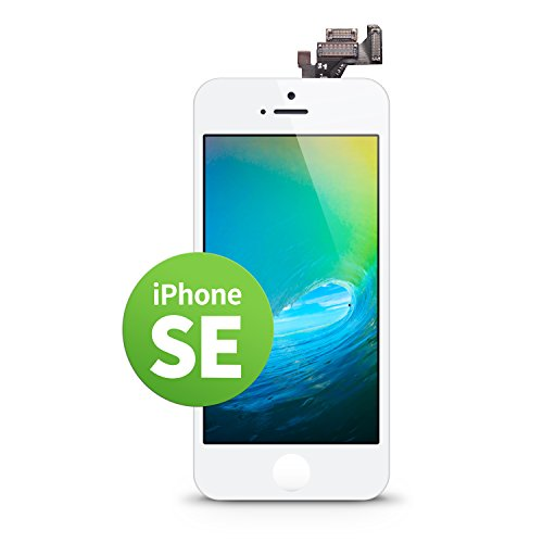 GIGA Fixxoo iPhone SE LCD Touchscreen Retina Display Ersatz in Weiß für Einfache Reparatur, FaceTime Kamera, 100{1337f5284485c61e4081aad7248af996701297b7ad3a838e7bdcdebdd10c6703} Kompatibel mit Apple (kein Set)