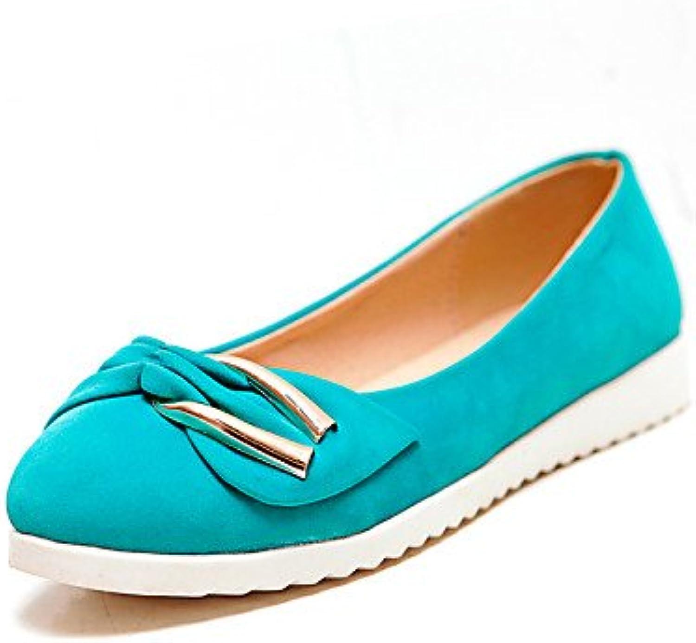 ZQ YYZ Zapatos de mujer - Tac¨®n Plano - Punta Redonda - Planos - Casual - Semicuero - Negro / Azul / Rosa / Almendra...