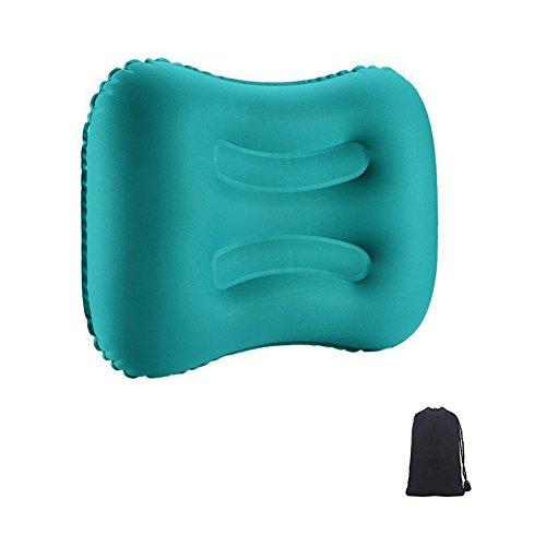 Waitiee cuscini da campeggio cuscini gonfiabile cuscino da viaggio - cuscino gonfiabile da impermeabile leggero cuscino collo confortevole cuscino compatto per campeggio spiaggia vacanza ufficio (verde)
