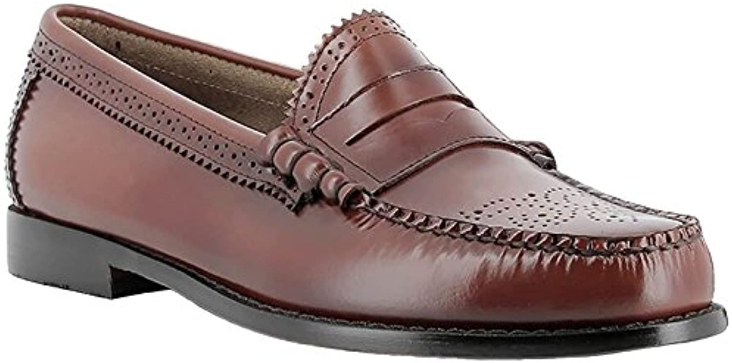 G.H. Bass & Co. Mens Weejuns Larson Brogue Mid Brown Leather Shoes 44 EU