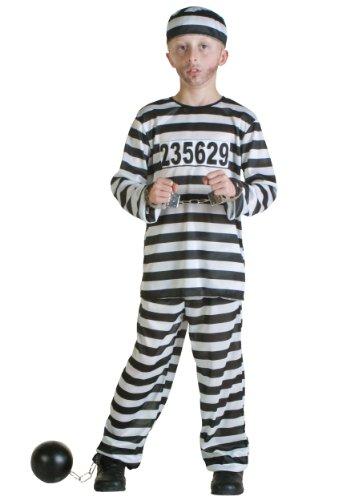 (Boys Prisoner Fancy Dress Costume X-Large)