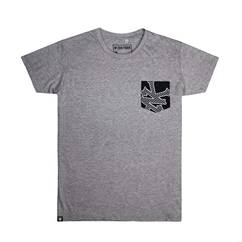 Zoo York Herren Core T-Shirt, Grau (Heather Grey SPO), Herstellergröße: MEDIUM Zoo York-core