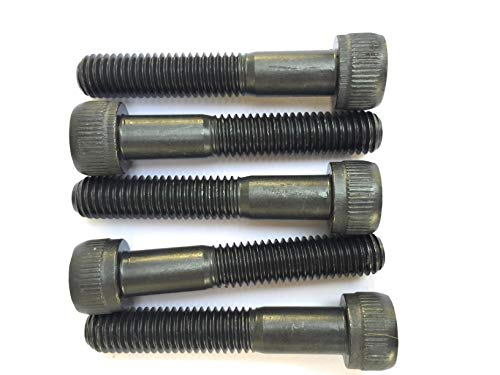 MK-Befestigungstechnik M4x60 Zylinderschrauben mit Innensechskant Din 912 Kl.12.9 - Schwarz Blank - 25 Stück