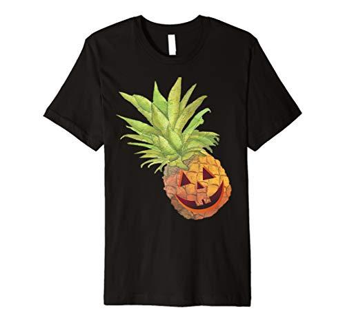 (Halloween Ananas Jack O Laterne Scary Fruit T-Shirt)