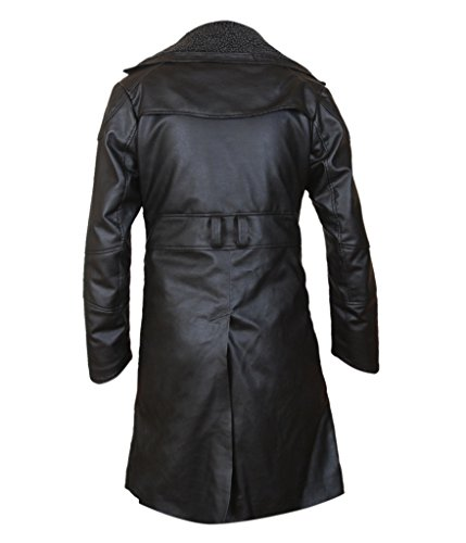 F&H Men's Blade Runner 2049 Faux Fur Lined Open Front Coat