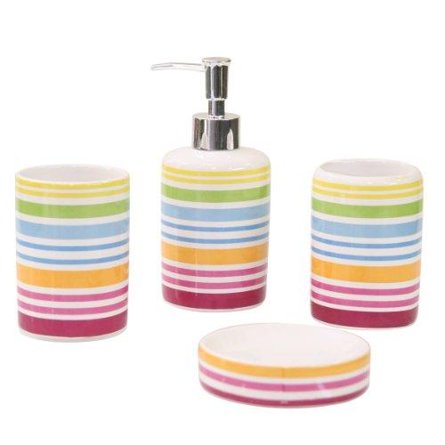 Axentia 282460 Bad Rio - Juego de cerámica para baño (4 piezas)