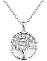 1.5 Carat Tree Of Life 925 Silver Necklace, Necklace For Women- By Ornate Jewels