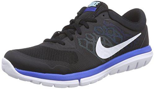 Nike Flex Run 2015, Chaussures de Running Compétition Homme Noir - (Black/White-Copa-Blue Lagoon 016)
