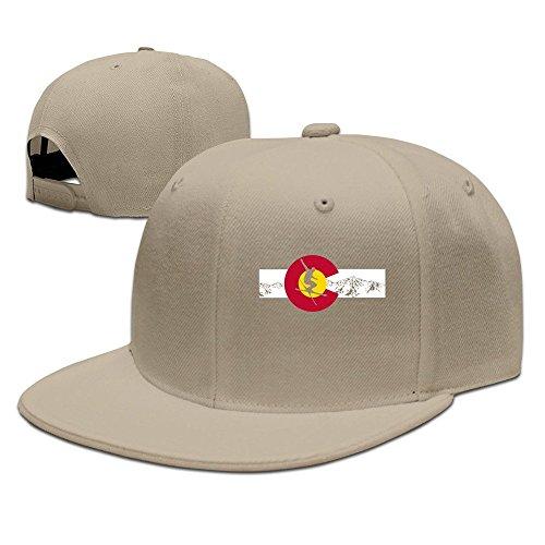 82e042266347c ERICP Colorado State – esquí montaña Bandera de béisbol Gorra Negro