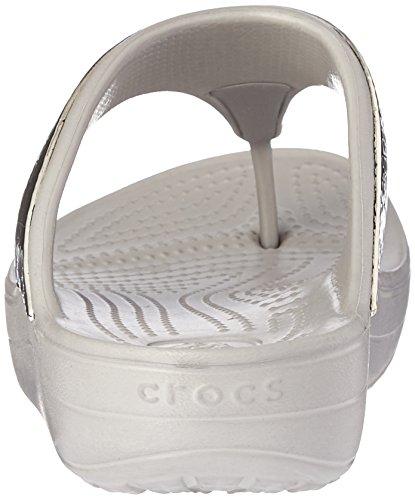 Crocs Sloane Agrémentée Platinum Sandals Silber