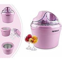 Primelux - Maquina de Yogur Helado, Maquina para Hacer Helado, Rosado, Potencia: 12 W, Tamaño del tazón: 20 x 20 x 13,5 cm