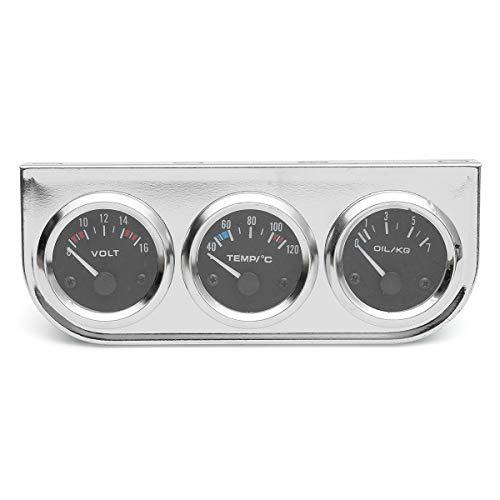YONGYAO 2 inch 52Mm Chrom Lünette Voltmeter + Wasser Thermometer + Öl Druck Elektrische Anzeige