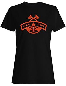 Insignia De Bombero 5 camiseta de las mujeres j776f