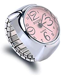 Yellow Chimes Pink Dial Analog Watch Ring Stretchable Ring for Women & Girls