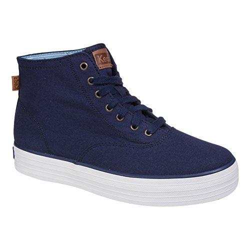 keds-triple-baskets-montantes-chaussures-mode-en-toile-femme-peacock-navy-bleu-marine-38