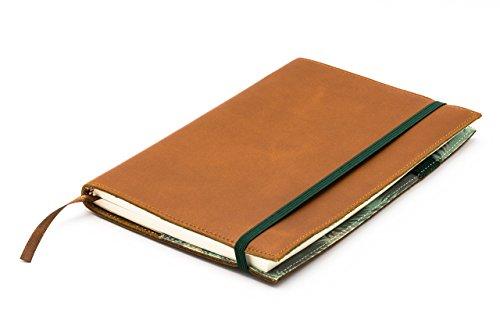 skaard Notizbuch A5 nachfüllbar, hochwertiges & gepunktetes Papier mit Umschlag aus echtem vintage Leder. Als Reisetagebuch & Skizzenbuch geeignet