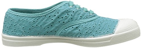 Bensimon Tennis Broderie Anglaise, Baskets Basses Femme Turquoise (505 Turquoise)