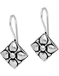 Jaipur Mart Jhumki Earrings for Women (Silver)(GSE470SLV)