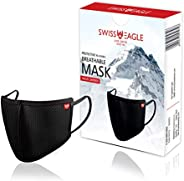 SWISS EAGLE HEIQ VIROBLOCK 6 Layer Super Soft Face Mask Respirator For Bacteria, Germ & Pollution Protecti