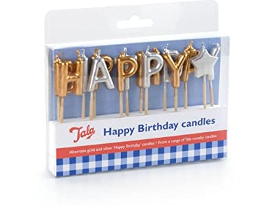 Happy Birthday Candles GOLD and SILVER from Tala