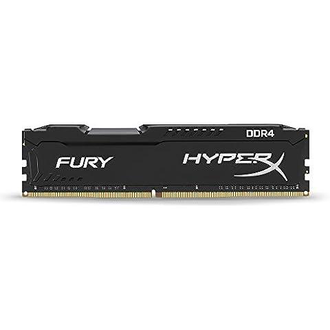 HyperX Fury HX421C14FB/8 - Memoria RAM, 8 GB 2133MHz DDR4 Non-ECC CL14 DIMM (compatible con Skylake)