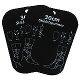 K&G GP02782 2 Paar Stiefel-Spanner Kunststoff Schwarz | 32,5 cm | Stiefelformer Schuhspanner Einzelspanner Schaftspanenr | Zubehör Schuhe