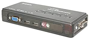 Digisol DG-KU1004 Mini USB KVM Switch with Audio Support, 4 Port