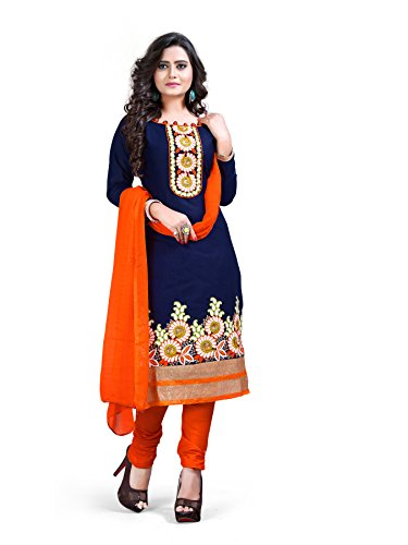 Crazy Women's Cotton Salwar Suit Set (Pich_25_05_Blue_Free Size)