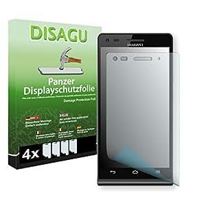 4 x DISAGU Film blindé film de protection d'écran pour Huawei Ascend G6 4G film de protection contre la casse