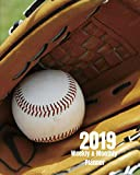 2019 Weekly and Monthly Planner: Sunny Baseball and Mitt Daily Organizer -To Do -Calendar in Review/Monthly Calendar with U.S. Holidays-Notes Volume 1