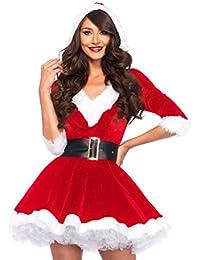 Leg Avenue 85356 Mrs. Claus Hooded Dress