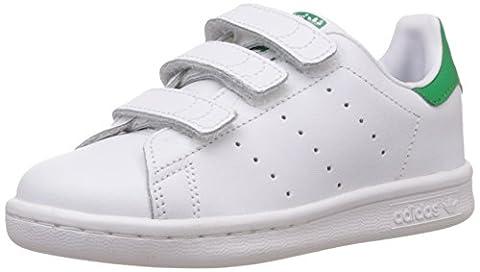 adidas M20607, Boys' Tennis Shoes, Ftwr White/Ftwr White/Green, 11 UK