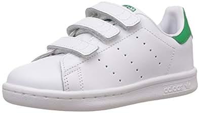 adidas Stan Smith, Sneakers Basses Garçon, Blanc (White/White/Green), 29 EU (UK Child 11 enfant UK)