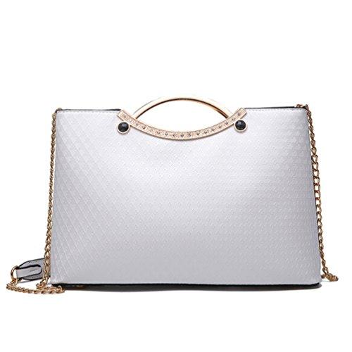 Auspicious beginning Fashion Arch Frame Metallgriff Tote Handtaschen für Mädchen (Leder-schulter-tasche Frame)