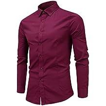 Yvelands Handsome Contraste de los Hombres Británicos Solapa Ropa Casual Business Basic Camisa de Manga Larga