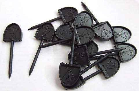 New JVD paper Archery Face Pins Plastic 46mm Straw Foam Target (48 pins)