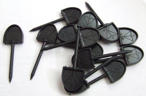 New JVD paper Archery Face Pins Plastic 46mm Straw Foam Target Test