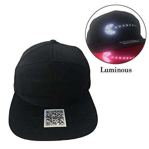 FOONEE-LED-Anzeigen-Hut-glühende Kühle Kappe DIY, Die Anzeige-Sport-Baseball-Golf-Kappen Sonnenhut Bearbeitet - App Kontrolliert (Anzeigen Baseball)