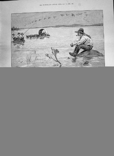 Fahrrad 1890 Litsani-Fluss-Afrika-Polizei Mashonaland Böhmen Prag Osmond - Afrika Antique Print