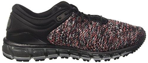 Asics Gel-Quantum 360 Knit 2, Chaussures de Running Homme Noir (Black/classic Red/stone Grey 9023)