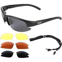Rapid Eyewear LUNETTES DE SOLEIL PILOTE avec interchangeables. Conçue pour les pilotes d'avions, aussi parfait pour le sport. Pour hommes et femmes. Une protection UV 400