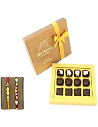 DEARCO CHOCOLATIER CHOCOLATE GIFT BOX, RAKHI CHOCOLATE For BROTHER, Luxury Rakhi Gift, PREMIUM RAKHI GIFT CHOCOLATES...