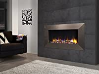 "Celsi Designer Fire Ultiflame VR Instinct 33"" Champagne Wall Mounted Inset Electric Fire"