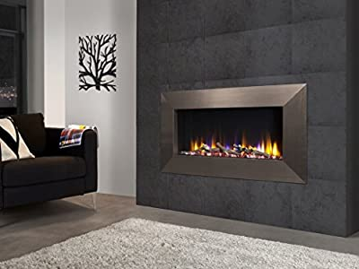 """Celsi Designer Fire Ultiflame VR Instinct 33"""" Champagne Wall Mounted Inset Electric Fire"""