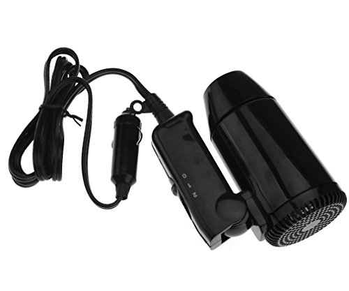 Petit Sèche-cheveux Pliable 12V Noir pour voyage et Camping Portable En voiture
