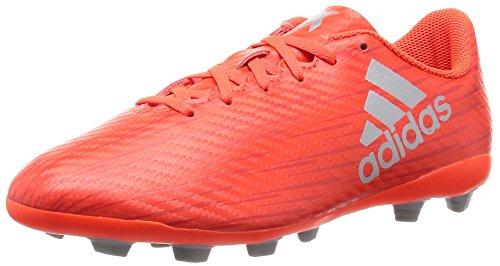 adidas X 16.4 Fxg J, Chaussures de Football Garçon, UK Rouge (Solar Red/Silver Metallic/Hi-Reset Red)