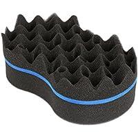 Esponja torcida - Esponja de cepillo de pelo de peluquero de lado doble, bloqueo Afro
